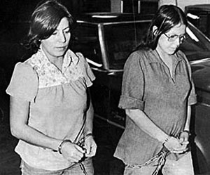 November 18, 1975, Annie Mae Aquash (left) and Darlenhttp://daringfireball.net/projects/markdown/dinguse P. Nichols, walked handcuffed from federal marshal's car into overnight quarter's in Vacouver's Clark County Courthouse