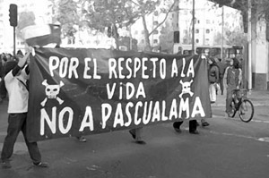 """Out of respect to life, no to Pascua Lama"""